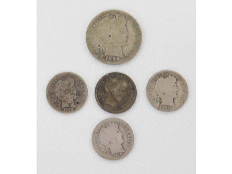 Turn of the Century Barber Coins
