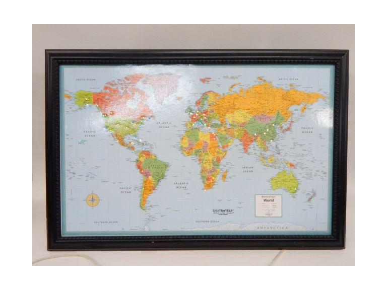 Light-Up World Map