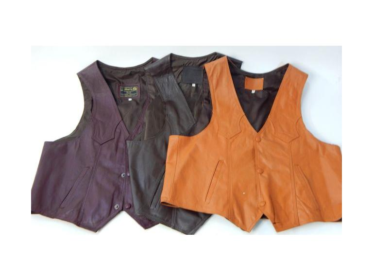Genuine Leather Men's Vests
