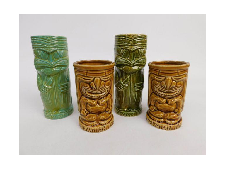 Hawiian Inn Tiki Glasses