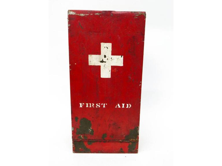 Old Industrial First Aid Box