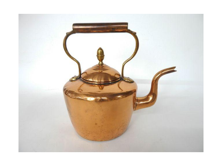 Copper and Brass Water Kettle