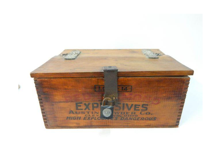 Vintage Wooden Explosives Crate