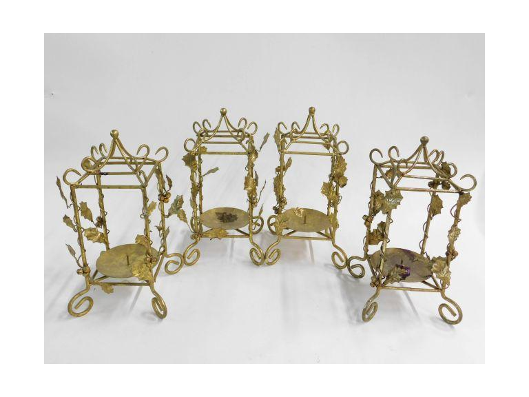 Gold Ornate Candle Holders