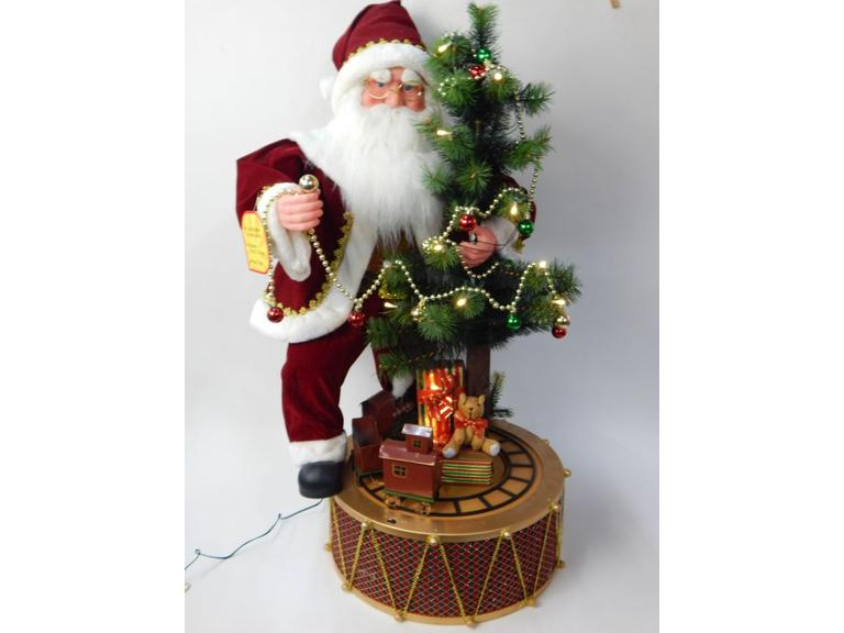 Tall Animated Santa Decoration