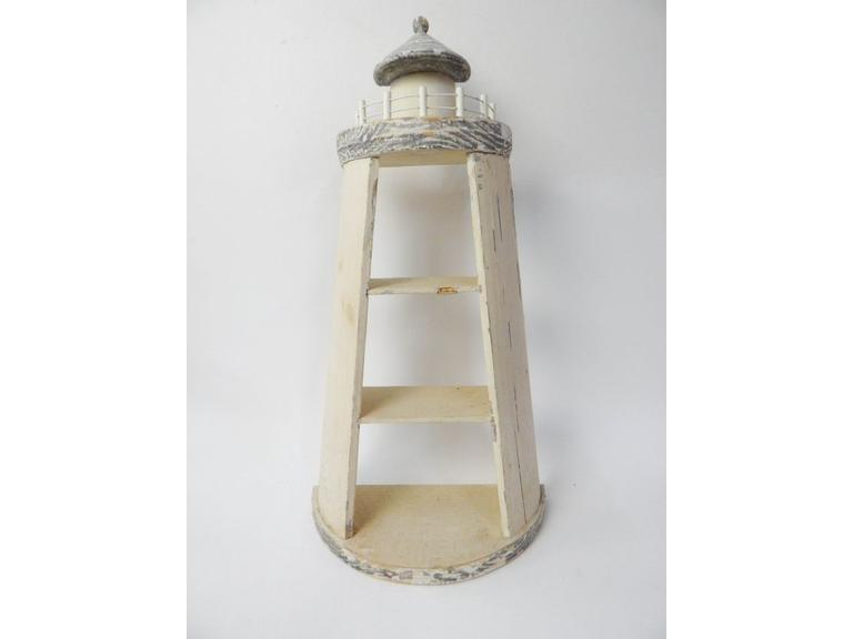 Rustic Wooden Lighthouse Shelf