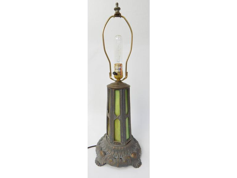 Ornate Slag Glass Table Lamp