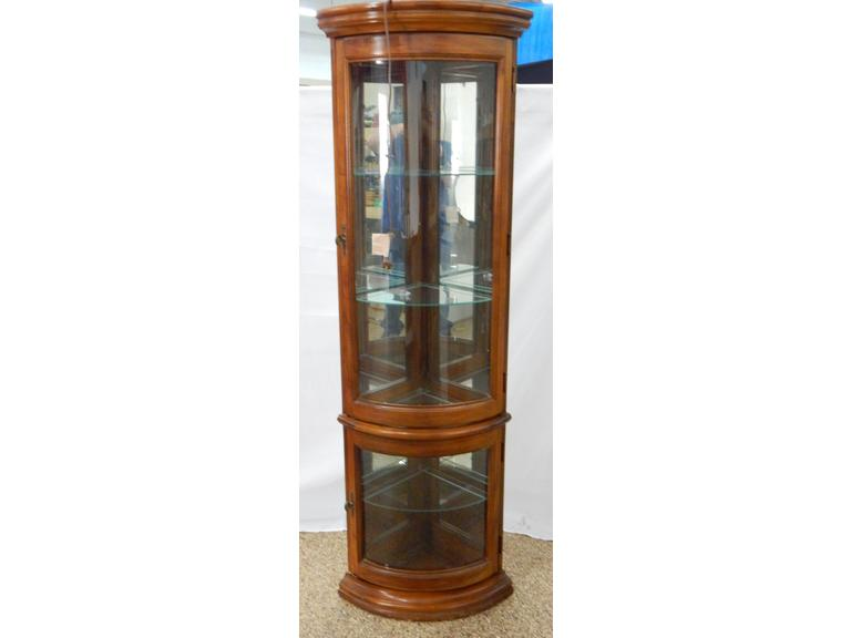 Light-Up Corner Display Cabinet