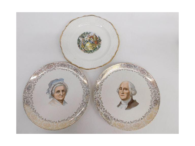George & Martha Washington Plates