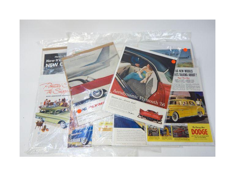 Vintage Magazine Car Advertisements