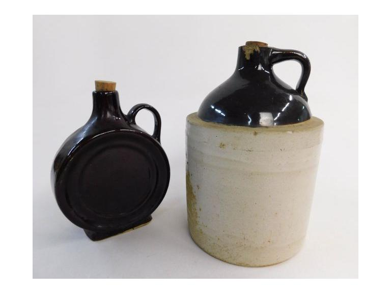 Salt Glazed Crock and Bottle