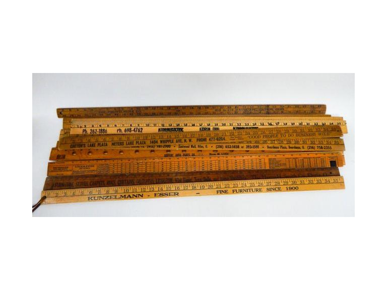 Vintage Wooden Yardsticks