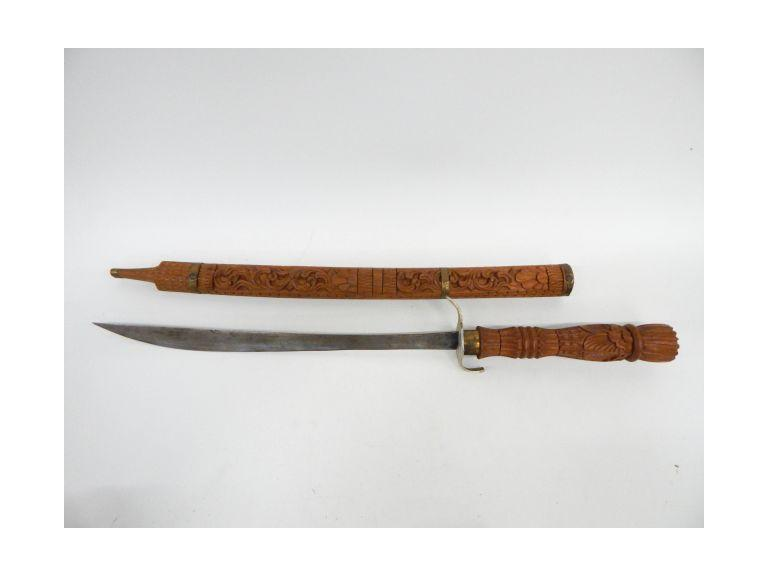 Hand Crafted Carved Sword and Sheath