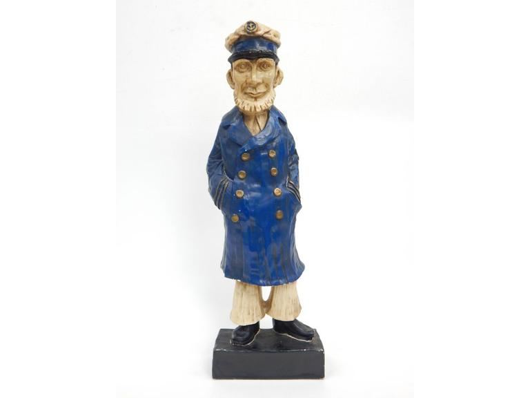 Tall Sailor Captain Plastic Figure