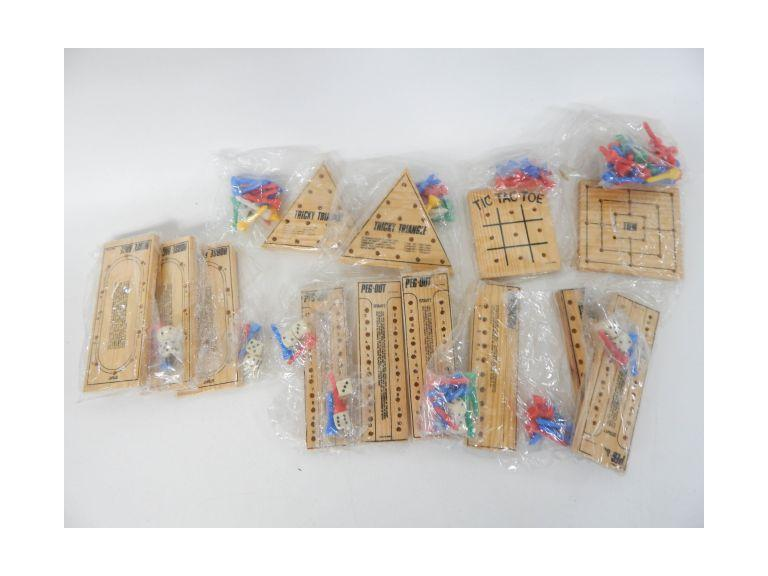 Collection of Wooden Peg Games