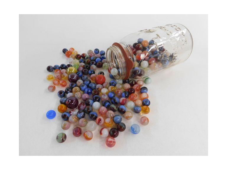 Large Canning Jar Full of Marbles