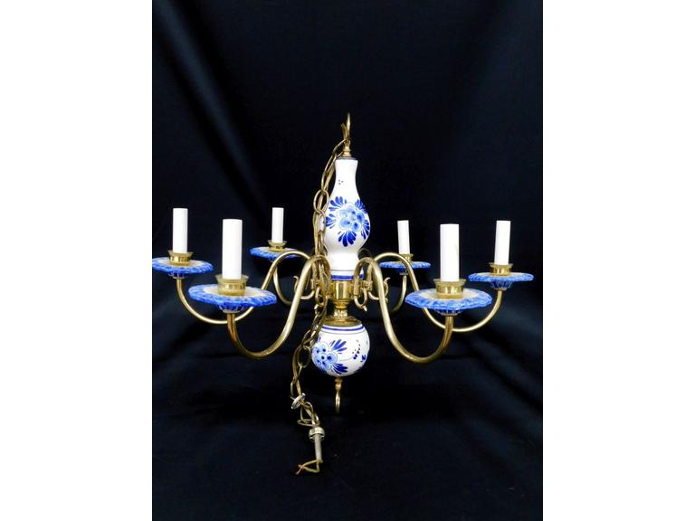 Delft Blue Ceiling Light
