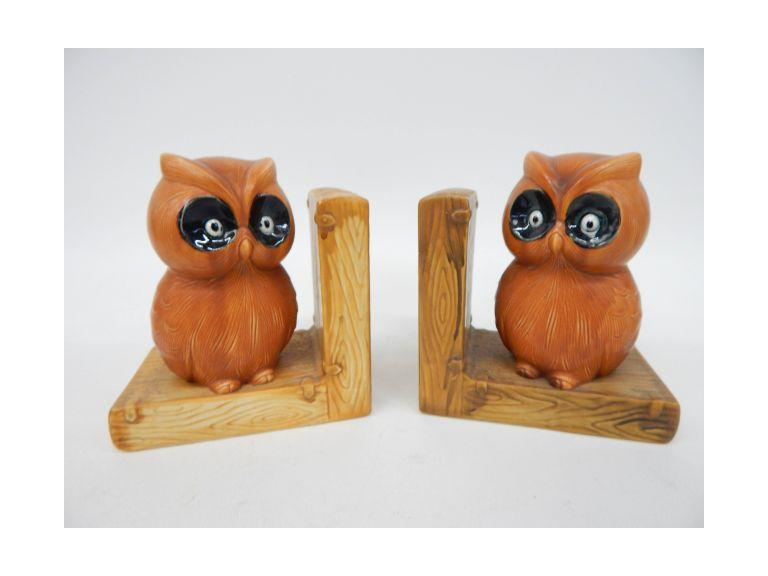 Ceramic Owl Bookends