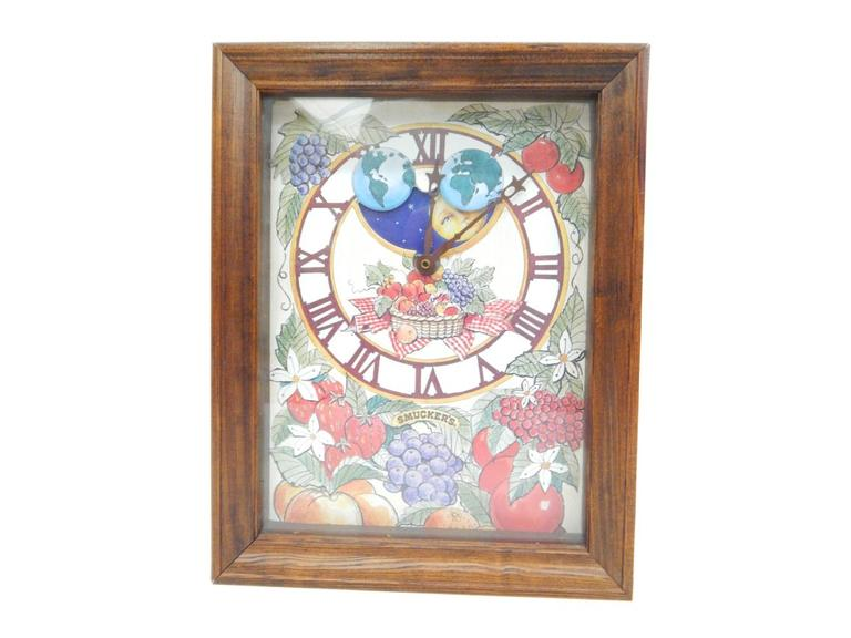 Smuckers Wood Framed Wall Clock