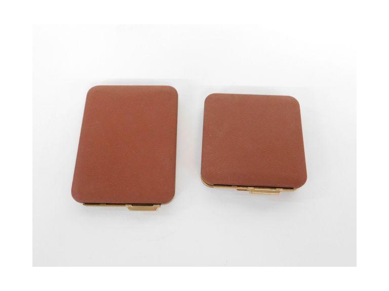 Ladies Compact with Matching Cigarette Case