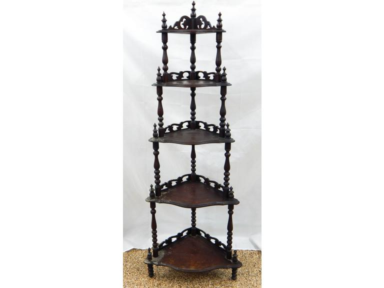Antique Ornate Corner Shelf