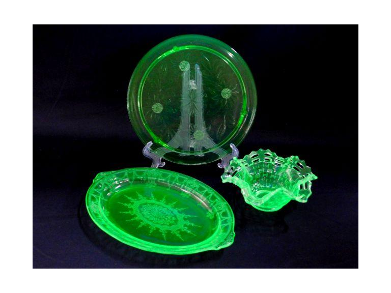 Green Depression Glass Lot