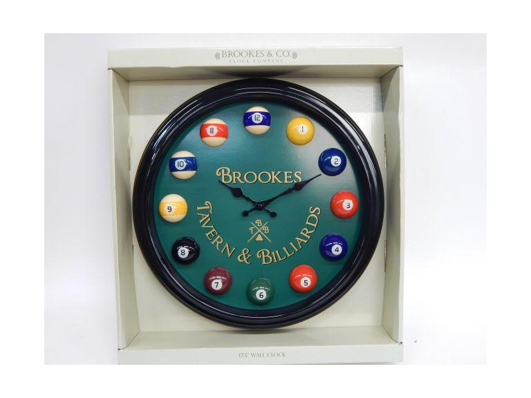 Tavern Billiard Clock