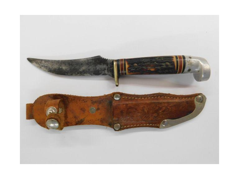 Western Straight Blade Knife with Sheath
