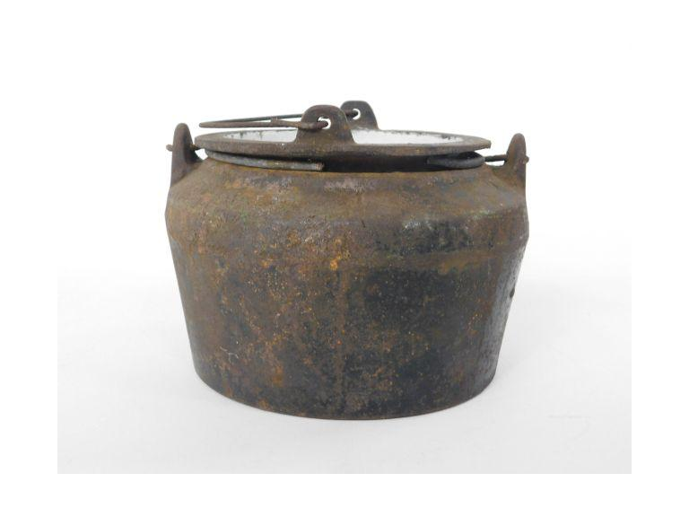 Antique Cast Iron Smelting Pot