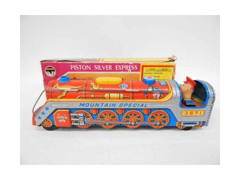 Battery Operated Tin Toy Train