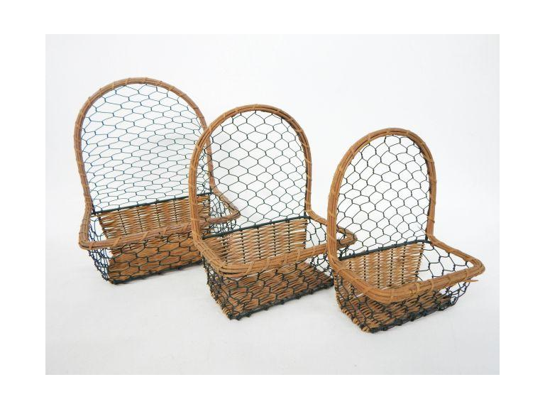 Wire & Wicker Wall Baskets
