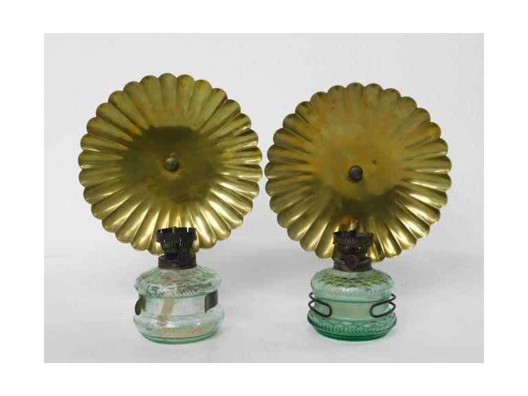Antique Oil Lamps with Reflectors