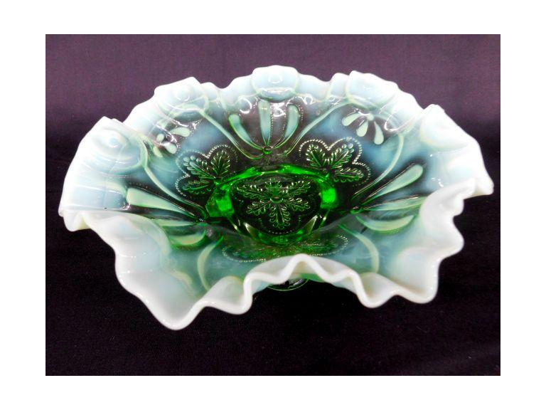 Northwood Glass Green Candy Dish