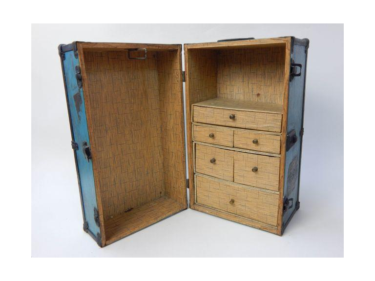 Miniature Travel Trunk with Drawers