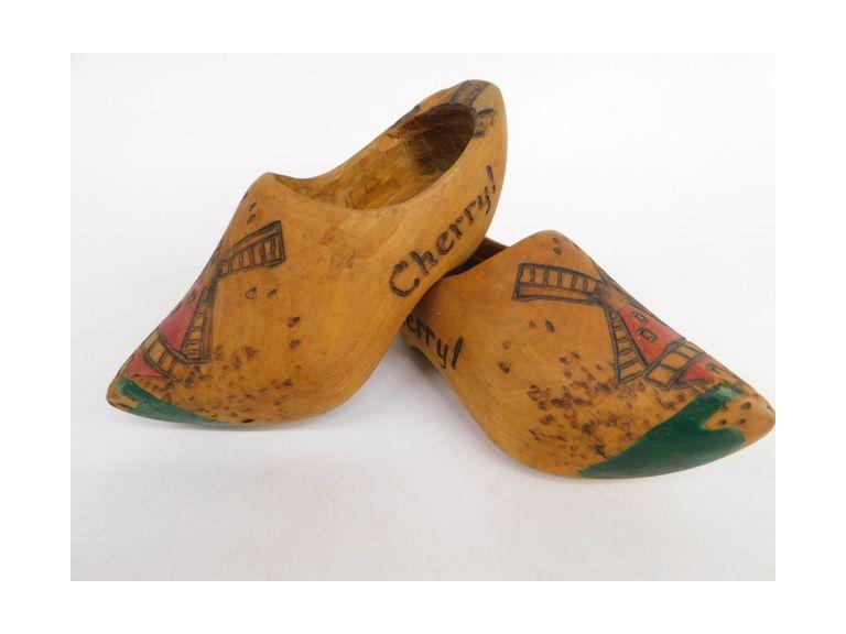 Vintage Wood Child's Shoes