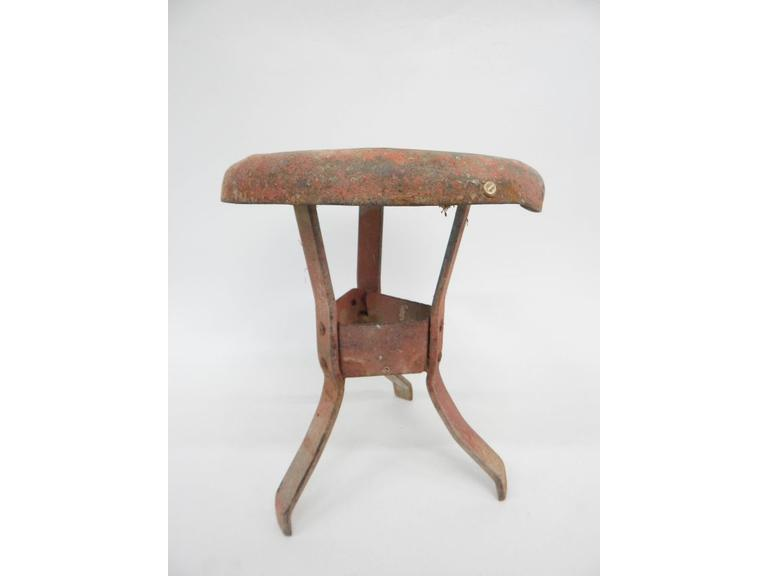 Primitive Metal Milking Stool