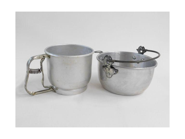 Aluminum Sifter and Bowl