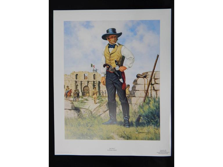 Lot of 150 Jim Bowie Lithograph Print