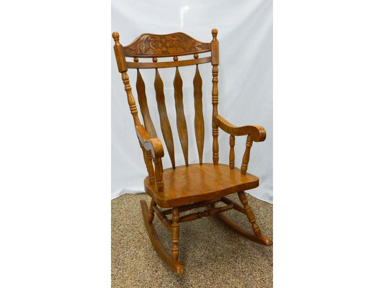 Vintage Solid Wood Rocking Chair