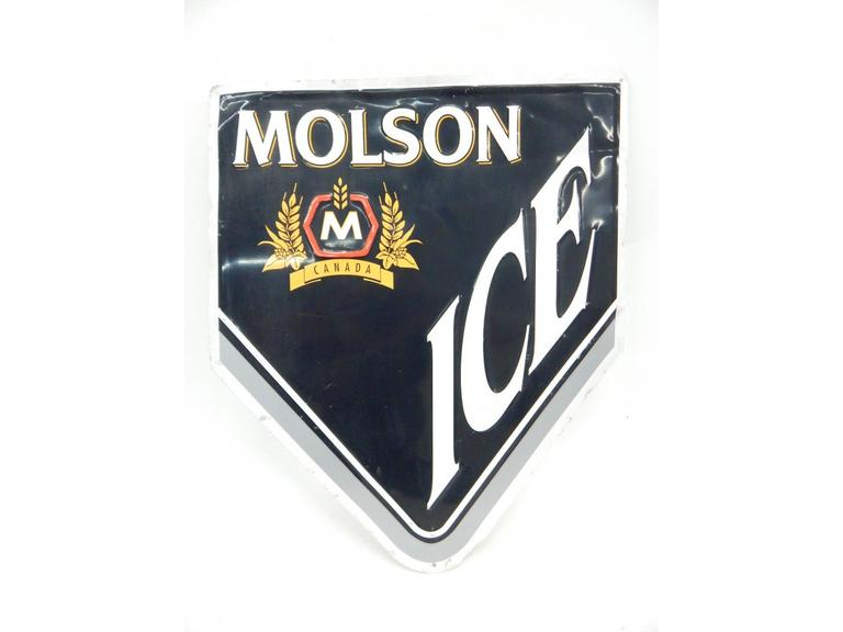 Molson Ice Tin Metal Sign