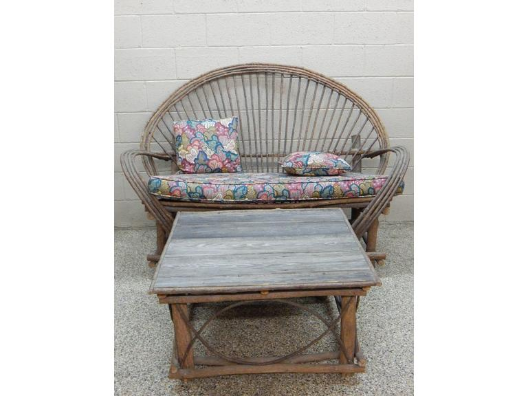 Twig Art Loveseat and Table Set