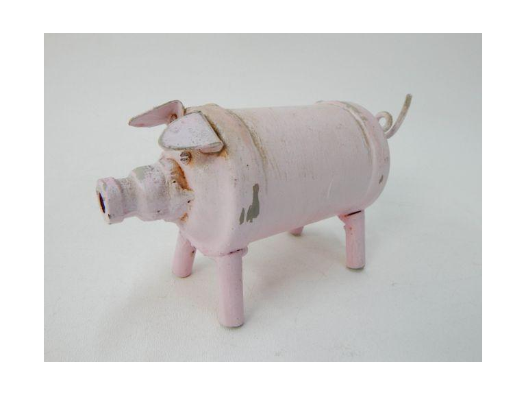 Metal Art Pig Figure