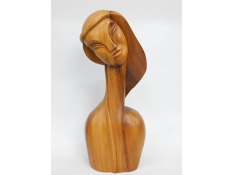 Tall Monkey Pod Wood Statue