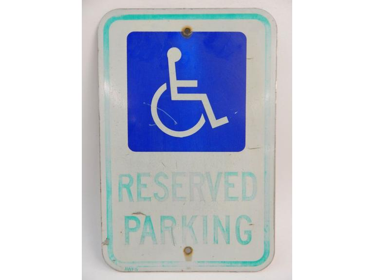 Old Handicap Parking Sign