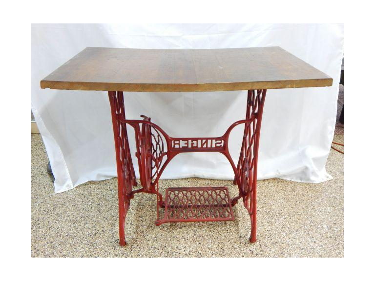 Antique Treadle Base Table
