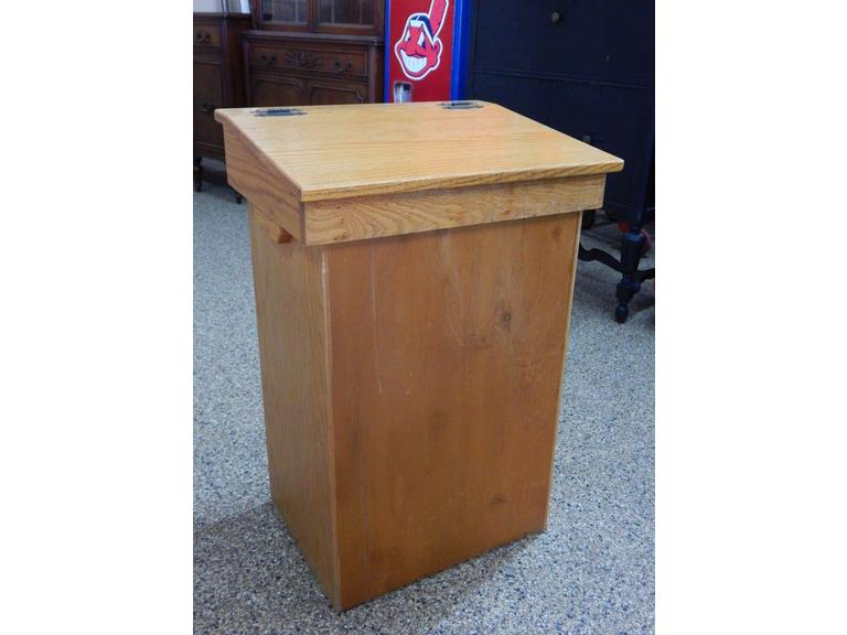 Solid Wood Trash Bin