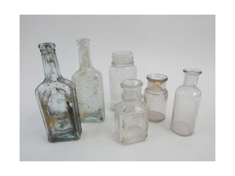 Collection of Antique Medicine Bottles