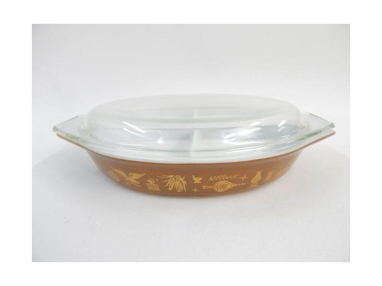 Pyrex Slotted Casserole Dish