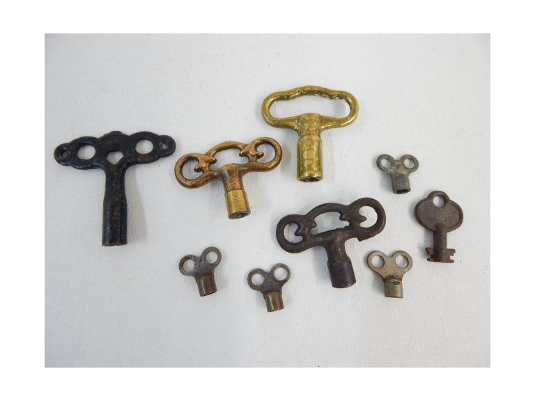 Antique Winding and Lock Keys