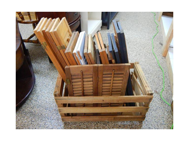 Crate Full of Wooden Shutters
